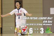 ベテランたちが予想以上の活躍!!大川(聡)、高橋の都リーグ初ゴールなどでFUTUROに6-3で勝利!!