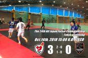 【選手権予選結果】2018年10月14日 VS Revolution Futsal Club