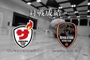 対 Revolution Futsal Clubの通算対戦成績と試合結果