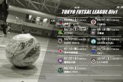 2019シーズン東京都フットサル1部リーグの試合日程変更について